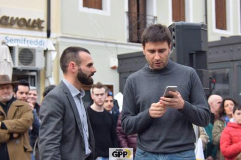 Con Alessandro DI Battista in Piazza a Pordenone